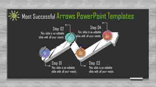 Innovative business arrows powerpoint templates